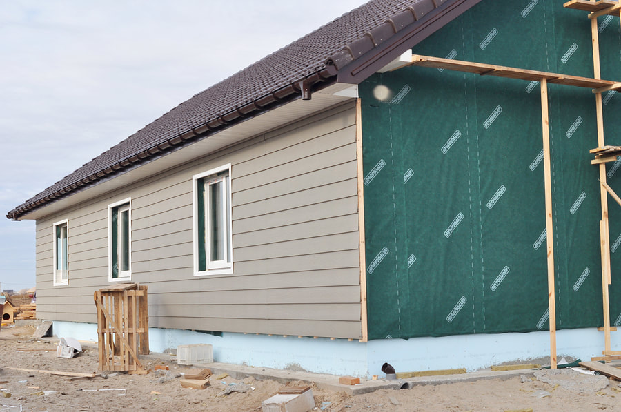siding installation in progress